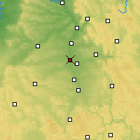 Nearby Forecast Locations - Fürth - Mapa