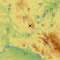 Nearby Forecast Locations - Waldmünchen - Mapa