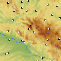 Nearby Forecast Locations - Großer Arber - Mapa