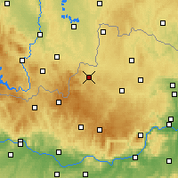 Nearby Forecast Locations - Weitra - Mapa