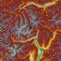 Nearby Forecast Locations - Gurgl - Mapa