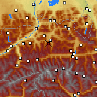 Nearby Forecast Locations - Hahnenkamm - Mapa