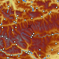 Nearby Forecast Locations - Obertauern - Mapa