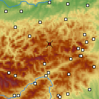 Nearby Forecast Locations - Mariazell - Mapa