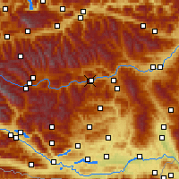 Nearby Forecast Locations - Murau - Mapa