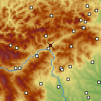 Nearby Forecast Locations - Kapfenberg - Mapa