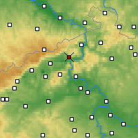 Nearby Forecast Locations - Ústí nad Labem - Mapa
