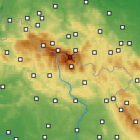 Nearby Forecast Locations - Sněžka - Mapa