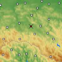 Nearby Forecast Locations - Krosno - Mapa