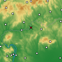 Nearby Forecast Locations - Szécsény - Mapa