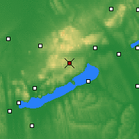 Nearby Forecast Locations - Veszprémfajsz - Mapa