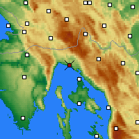 Nearby Forecast Locations - Rijeka - Mapa