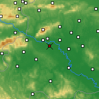 Nearby Forecast Locations - Zagreb - Mapa