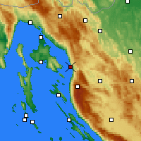 Nearby Forecast Locations - Senj - Mapa