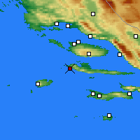 Nearby Forecast Locations - Hvar - Mapa