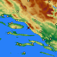 Nearby Forecast Locations - Makarska - Mapa