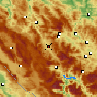 Nearby Forecast Locations - Bugojno - Mapa
