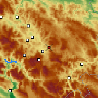 Nearby Forecast Locations - Sarajevo - Mapa