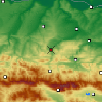 Nearby Forecast Locations - Lovech - Mapa