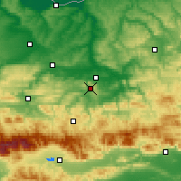 Nearby Forecast Locations - Veliko Tarnovo - Mapa