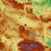 Nearby Forecast Locations - Sófia - Mapa