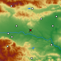 Nearby Forecast Locations - Čirpan - Mapa