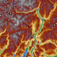 Nearby Forecast Locations - Val di Sole - Mapa