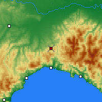Nearby Forecast Locations - Giovi Pass - Mapa