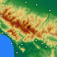 Nearby Forecast Locations - Monte Cimone - Mapa