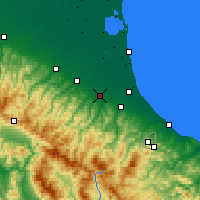Nearby Forecast Locations - Forlì - Mapa