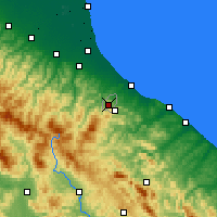 Nearby Forecast Locations - San Marino - Mapa