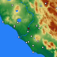 Nearby Forecast Locations - Rome/Urbe - Mapa