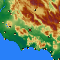 Nearby Forecast Locations - Frosinone - Mapa