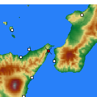 Nearby Forecast Locations - Messina - Mapa