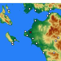 Nearby Forecast Locations - Andravida - Mapa