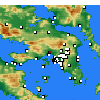Nearby Forecast Locations - Elêusis - Mapa