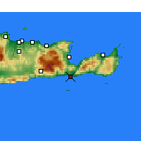 Nearby Forecast Locations - Ierápetra - Mapa