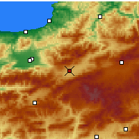 Nearby Forecast Locations - Bolu - Mapa