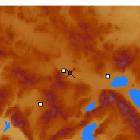 Nearby Forecast Locations - Afyonkarahisar - Mapa