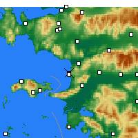 Nearby Forecast Locations - Kuşadası - Mapa