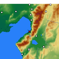 Nearby Forecast Locations - İskenderun - Mapa