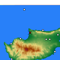 Nearby Forecast Locations - Akdeniz - Mapa