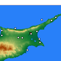 Nearby Forecast Locations - Lefkoniko - Mapa