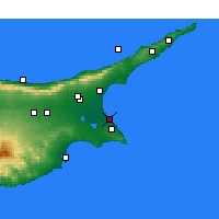 Nearby Forecast Locations - Famagusta - Mapa