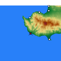 Nearby Forecast Locations - Pafos - Mapa