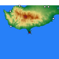 Nearby Forecast Locations - Limassol - Mapa