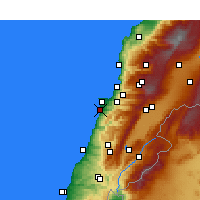 Nearby Forecast Locations - Beirute - Mapa