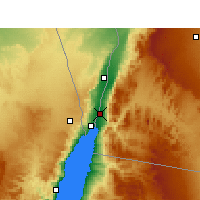 Nearby Forecast Locations - Aqaba - Mapa