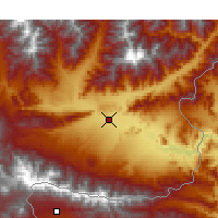 Nearby Forecast Locations - Jalalabad - Mapa