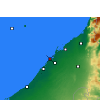 Nearby Forecast Locations - Ajman - Mapa